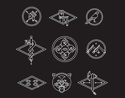 tattoo inspired badges