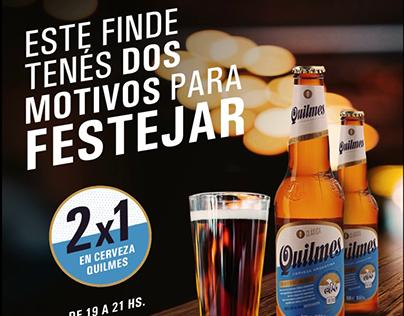 Promocion 2x1 Quilmes