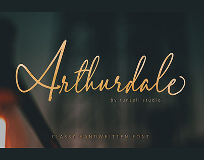 Arthurdale elegant calligraphy