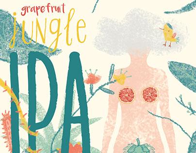 Grapefruit Jungle Ipa Label Design