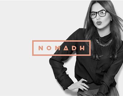 Nomadh Glasses project Branding & Website