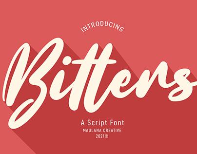 Bitters Script Font