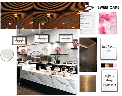 Sweet Cake Bakery. Interior design