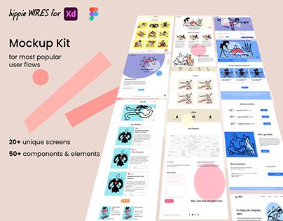 hippie Wires - Mockup Kit for XD & Figma