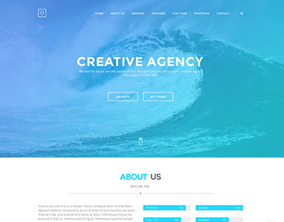 Quanty - Creative Agency and Portfolio PSD Template