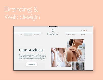 Precious Jewelry - Website & Brand identity