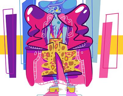 90's Fashion Pop Art