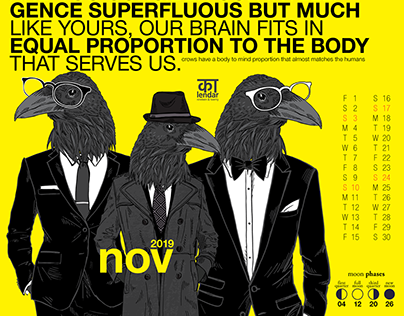 "Calendar 19/20 ""Crow"""