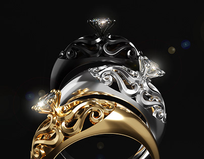 Diamond Ring 3D Animation and Visualization