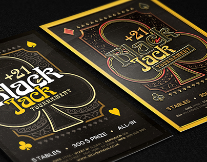 Black Jack Tournament Flyer Templates