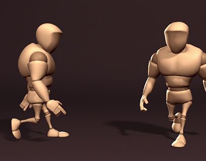 3d Animation with beefy, a free downloaded 3D character