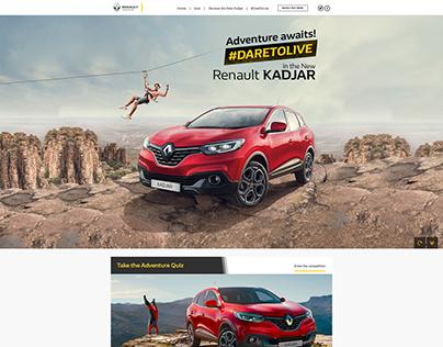 Renault Kadjar landing page