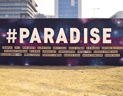 Global Citizen Festival India : Paradise Graffiti Wall