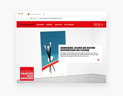 Webdesign: Museum | Belgium