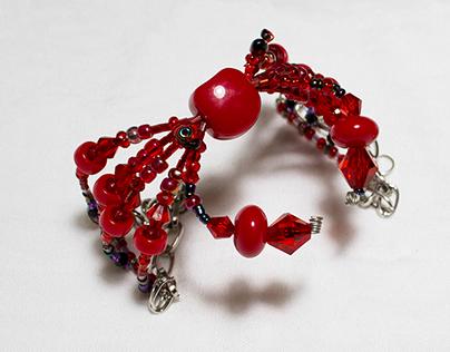 Diseño de cangrejo. Aretes, pulseras, collares y más.