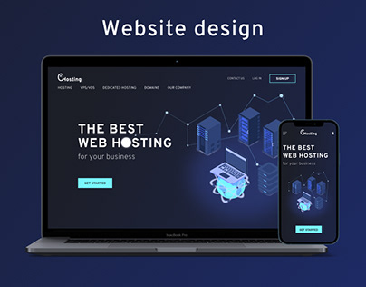 Website design for GlanceHosting