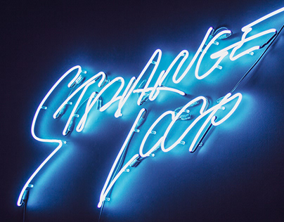 Neon Sign Lettering