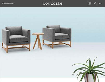 Domicile E-commerce web design