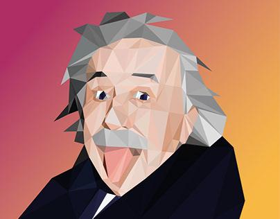 Albert Einstein - Low Poly Portrait