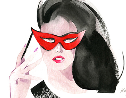 Fashion Portraits with Watercolor. with Video!