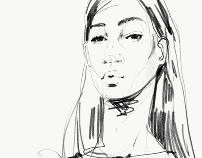 Fashion Sketches - using iPad Pro and Photoshop Sketch