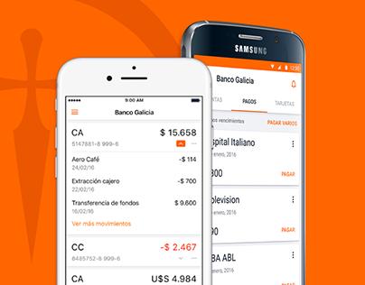 Banco Galicia Case Study - Mobile App Design