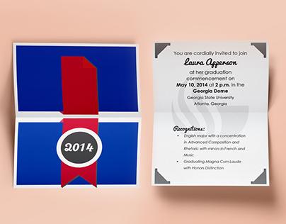 Print/Collateral Design: Graduation Invitation