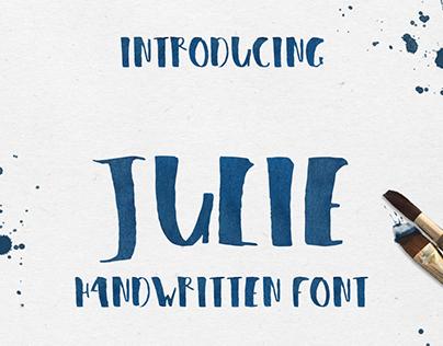 Julie – handwritten font