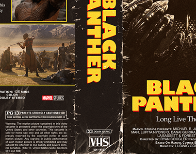 VHS Cover Art | Black Panther