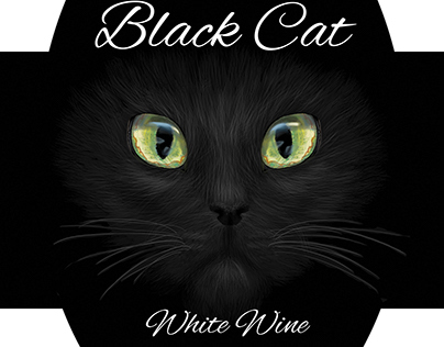 Black Cat White Wine Label