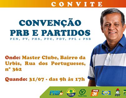 Convite de convenção de partido para campanha política