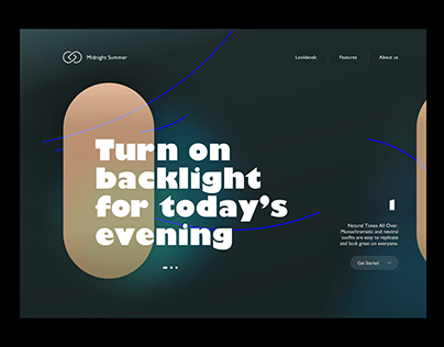 Visual: landing page concept