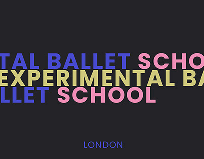 Posters for the experimental ballet school