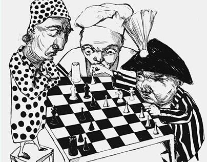 """Poster """"Chess disease"""""""