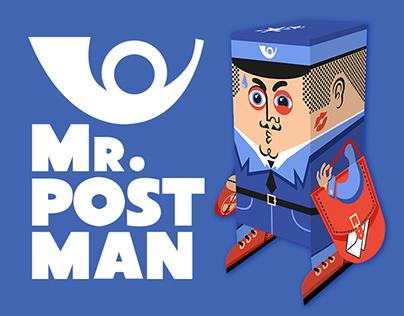 Postman - paper figure cut-out.