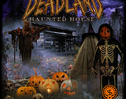 Marketing Artwork for the Deadland Haunted House