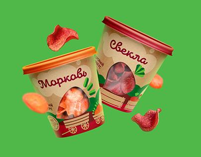 Zelenika vegetable chips Pack and Identity