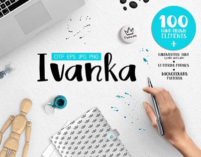 Ivanka Font • Patterns • Vector elements