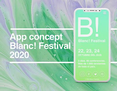 App concept Blanc!Festival 2020