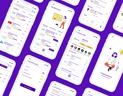 Job app for young people - UX/UI design