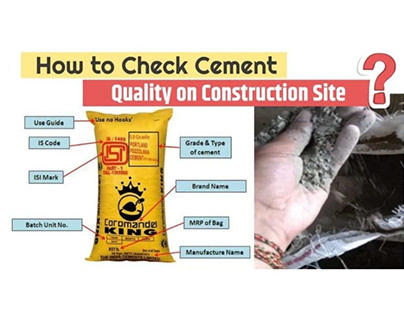 How to Check Quality of Cement on Construction Site