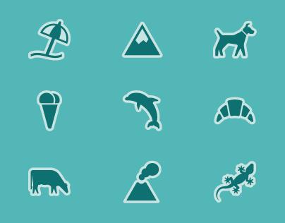 Iconos para mapas