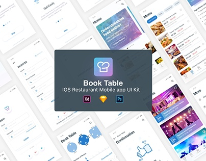 BookTable App UI Kit