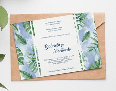 Convite de Casamento - Gabriela e Bernardo