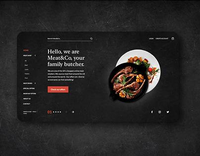 Meat restaurant UI/UX Website concept