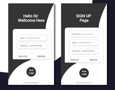 Dark 2 apps ׀ UI Design ׀ Sign in