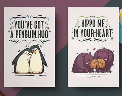 Hand-Drawn Valentine's Day Cards ( Free Download )