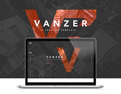 Vanzer - FREE PSD Portfolio Website