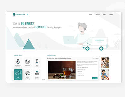 Customer Desk Dashborad_Web App Ui design