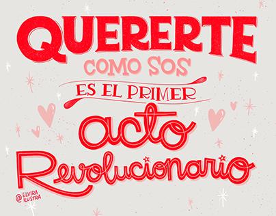SELF LOVE Hand lettering
